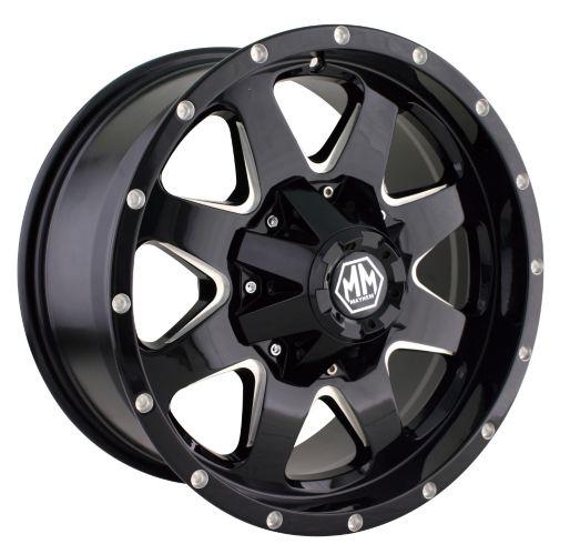 Mayhem Tank 8040 Alloy Wheel, Black with Milled Spoke Product image