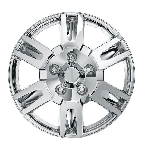 Wheel Cover, 999, Chrome, 16-in, 2-pk