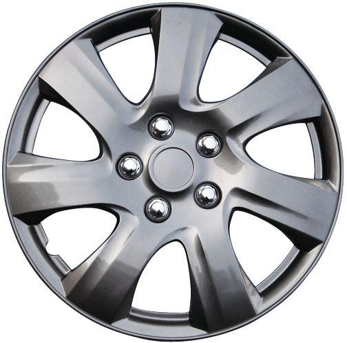 Wheel Cover, 1021, Gun Metal, 14-in, 4-pk