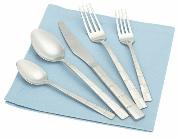 For Living Stainless Steel Flatware Set, Block, 20-pc Product image