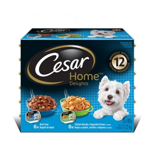 Cesar Home™ Delights Variety Pack, 100-g, 12-pk Product image