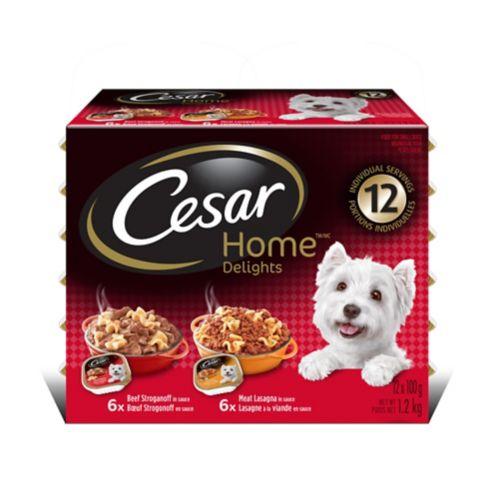 Nourriture Cesar Home Delights de saveurs variées, paq. 12 Image de l'article
