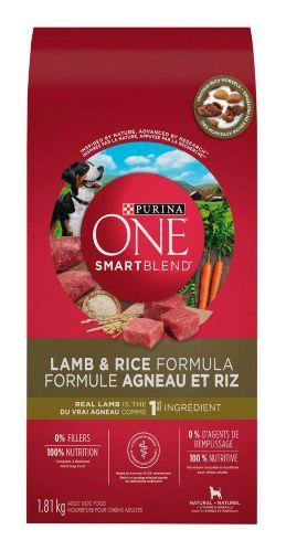 Purina ONE® SmartBlend™ Lamb & Rice Formula Dog Food