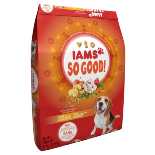 Iams So Good Savory Chicken Dog Food, 27 lb Product image