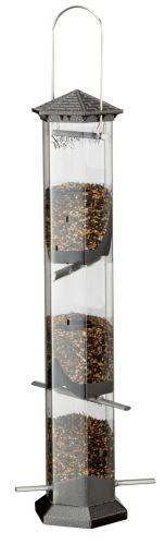 Mangeoire graines de tournesol Twist & Clean, étain, 17 po Image de l'article