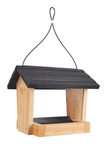 Cedar Acrylic Hopper Bird Feeder, 4-qt Product image