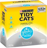 Litière agglomérante Purina Tidy Cats avec Solutions pour odeurs tenaces Glade, 12,3 kg | Tidy Catsnull