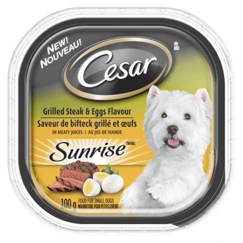 Nourriture humide pour chiens Cesar, bifteck grillé et oeufs, 100 g