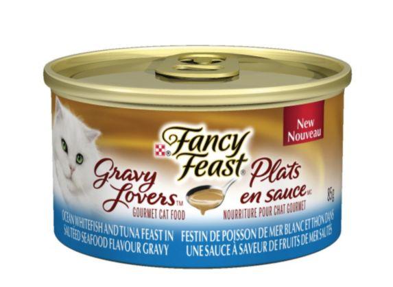 Dîner Purina Fancy Feast plats en sauce, poisson blanc, 85 g