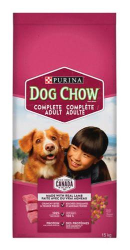 Nourriture pour chiens Purina Dog Chow, agneau et riz, 15 kg Image de l'article