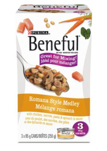Purina Beneful Romana Style Medley Wet Dog Food, 3-pk Product image
