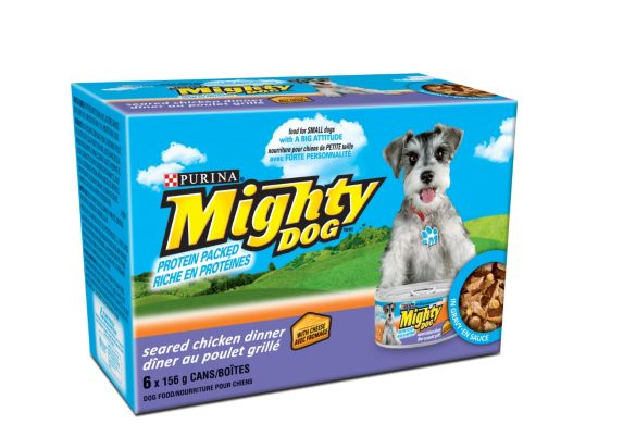 Purina Mighty Dog Seared Chicken Wet Dog Food, 6-pk Product image