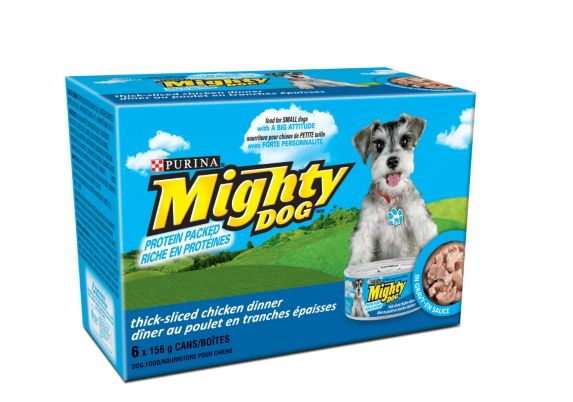 Purina Mighty Dog Thick Sliced Chicken Wet Dog Food, 6-pk