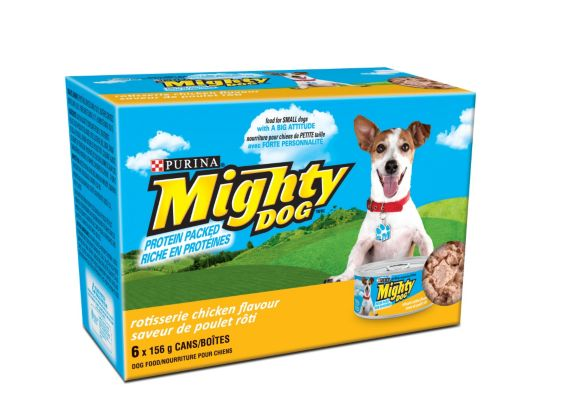 Purina Mighty Dog Rotisserie Chicken Wet Dog Food, 6-pk Product image