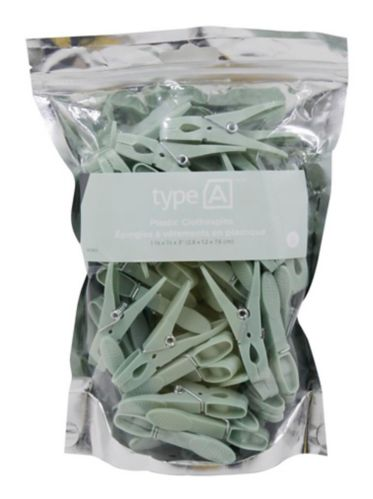 type A Plastic Clothespins, 50-pk
