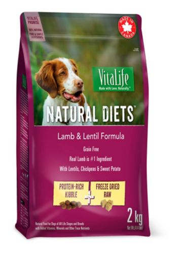 Nourriture sèche pour chiens formule agneau et lentilles Vitalife, 2 kg  Image de l'article