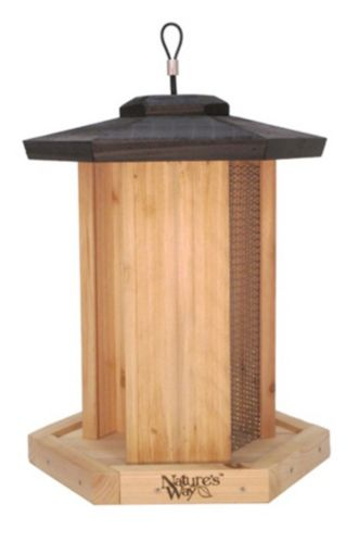 Natures Way Triple Chamber Cedar Bird Feeder Product image