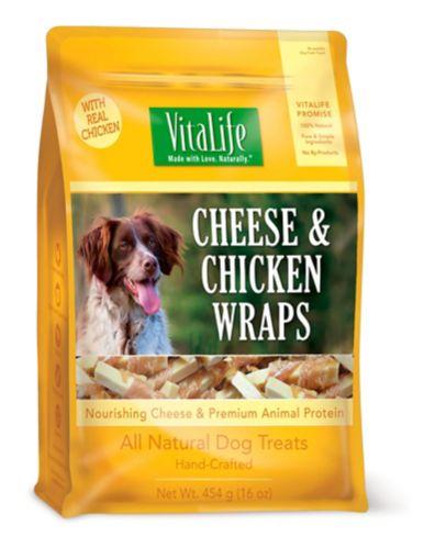 Vitalife Cheese & Chicken Wraps Dog Treats, 454-g