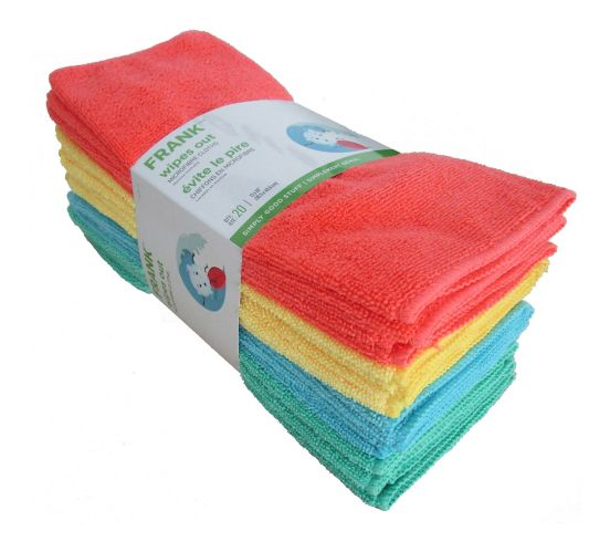 FRANK All Purpose Microfibre Cloth, 20-pk