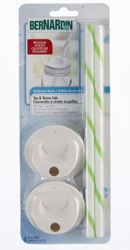 Bernardin Sip and Straw Lids, 4-pk Product image