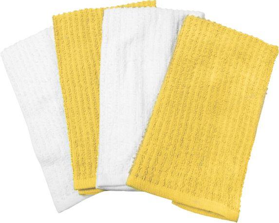 Cuisinart Yellow Terry Dish Cloth, 8-pk