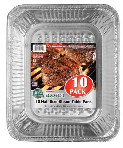 Marmites mi-format pour table à vapeur Handi-Foil, paq. 10