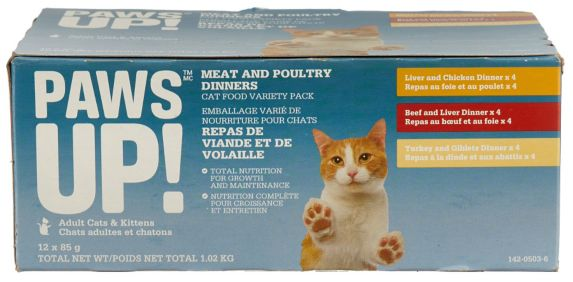 PAWS UP! Cat Food Meaty Variety, 12-pk Product image