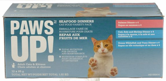 PAWS UP! Cat Food Seafood Variety, 12-pk
