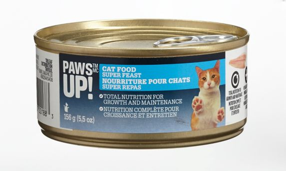 PAWS UP! Nourriture pour chats, humide, 156 g
