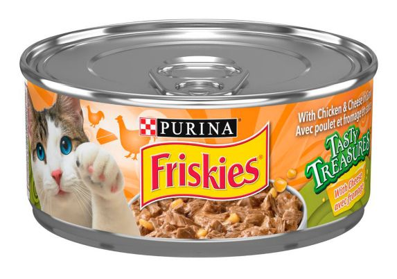 Friskies Tasty Treasure Chicken with Liver Cat Food, 156-g Product image