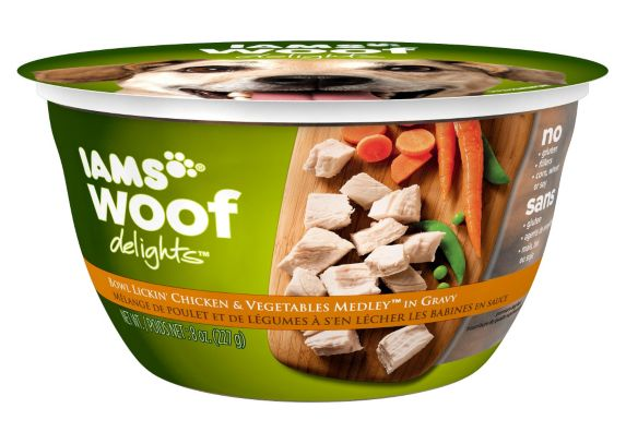Iams Woof Delights Chicken & Vegetable, 8-oz Product image