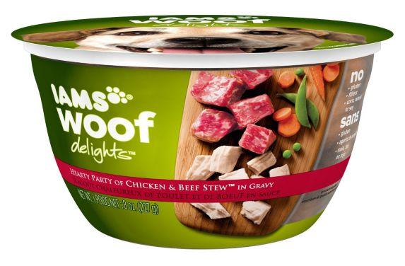 Iams Woof Delights Beef & Vegetable, 8-oz Product image