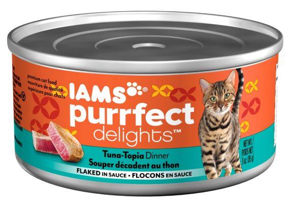 Iams Purrfect Delights Tuna-Topia Dinner, 3-oz Product image
