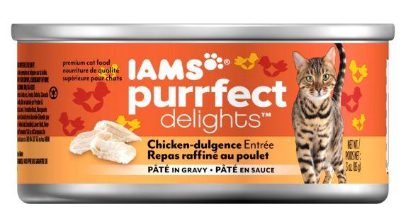 Iams Purrfect Delights, Repas raffiné au poulet, 3 oz Image de l'article