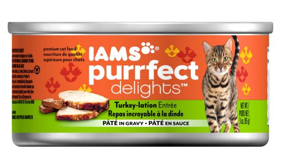 Iams Purrfect Delights Turkey-lation Dinner, 3-oz Product image