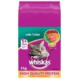 Whiskas Adult Dry Cat Food, Tuna, 4-kg | Whiskasnull