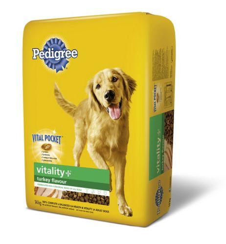 Pedigree Vitality Dry Dog Food, Turkey, 14-kg Product image