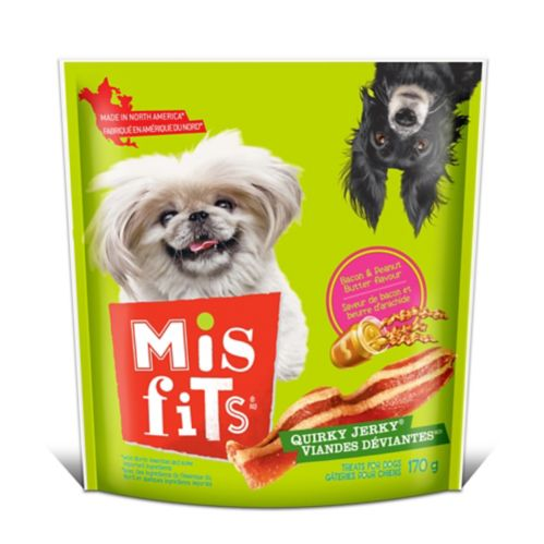 Misfits Quirky Jerky Dog Treats, 170-g
