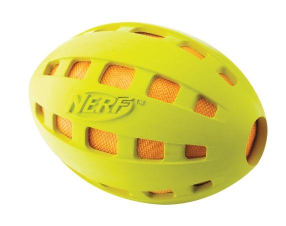 Nerf Green Crinkle Football Dog Toy Product image