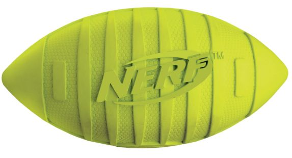 Nerf Green & Black Squeak Football Dog Toy Product image