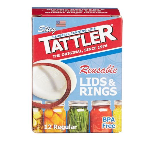 Tattler Reusable Regular Canning Lids & Rings, 12-pk Product image