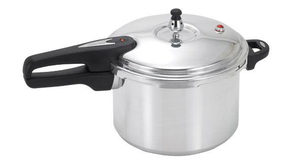 T-fal Mirro Aluminum Pressure Cooker, 6-qt