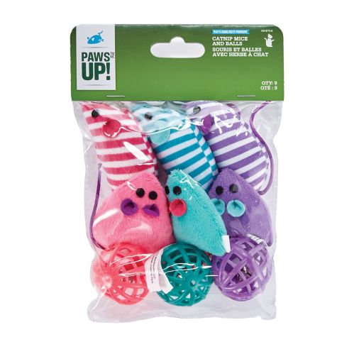 PAWS UP! Balls & Mice Cat Toy, 9-pk Product image