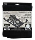 s&t Extra-Large Black Dish Drying Mat | S&Tnull