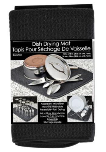 Tapis noir pour séchage de vaisselle s&t Image de l'article