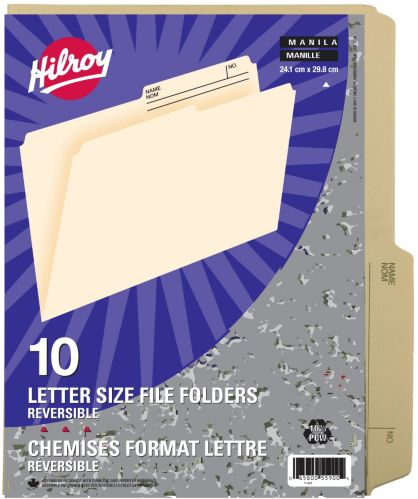 Hilroy Letter Size File Folders, Manilla Product image