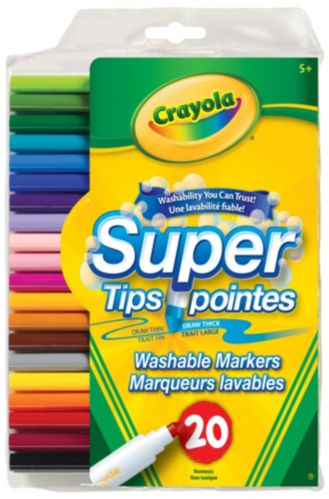 Crayola Super Tip Markers, 20-pk