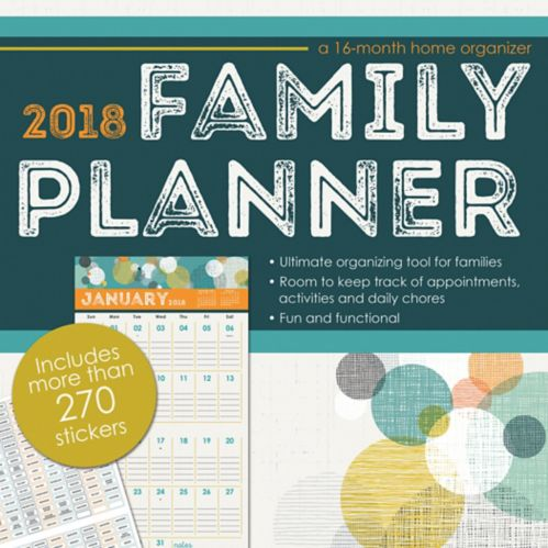 Dateworks 2018 Family Planner Wall Calendar Product image