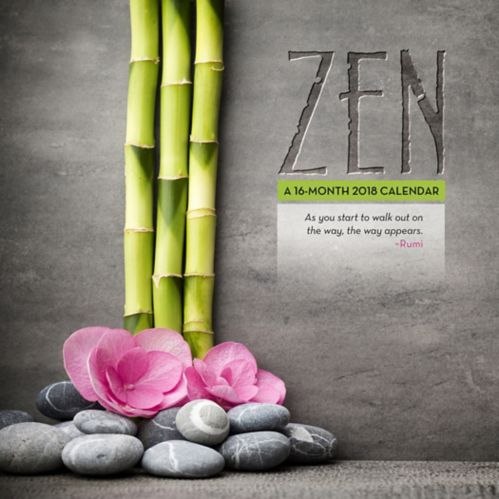 2018 Zen Wall Calendar, 16-Month Product image