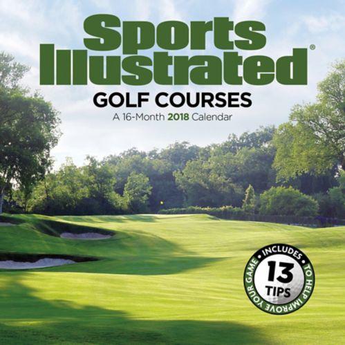 Calendrier mural 2018 Sports Illustrated, terrains de golf